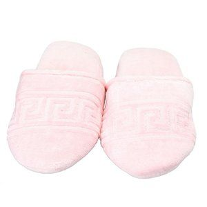 """Versace Home """"Greca Key""""Unisex Pink Slippers Shoes"""